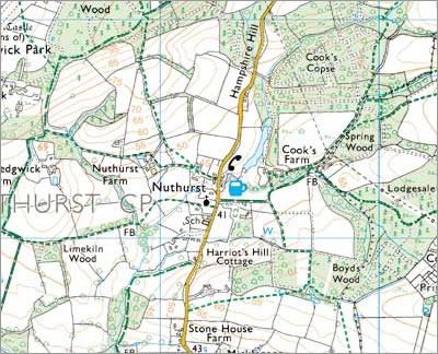 Nuthurst map